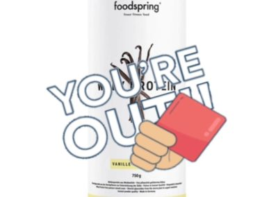 Carton rouge pour foodspring®