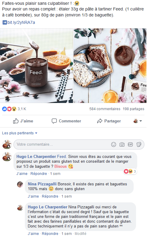 Feed réponse Community Manager