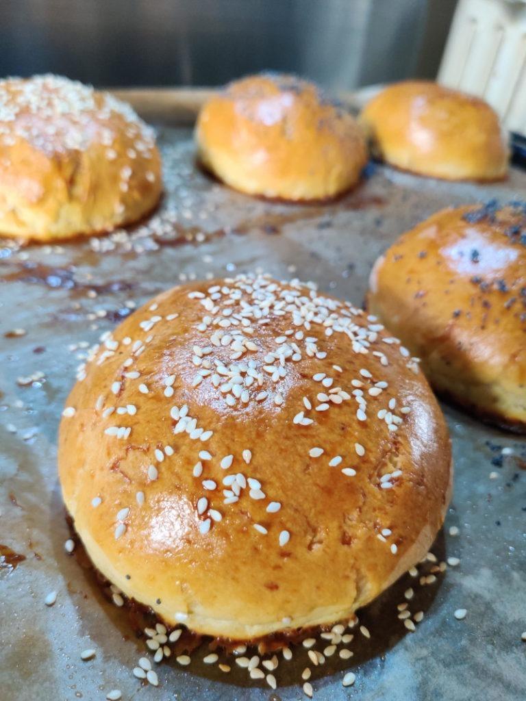 Buns burgers recette cuisson graines sesame blanches