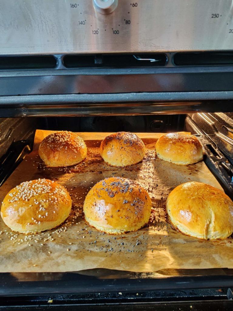 Buns burgers recette cuisson four