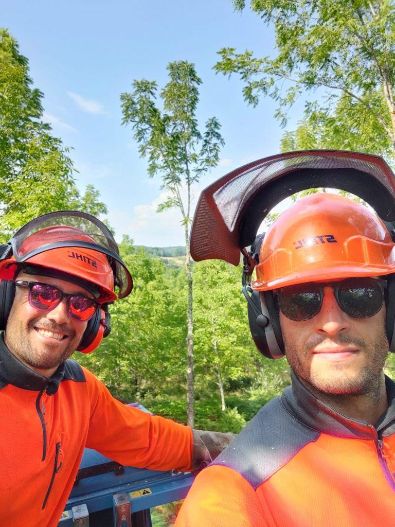 Benjamin et Hugo, propriétaires forestiers en Corrèze