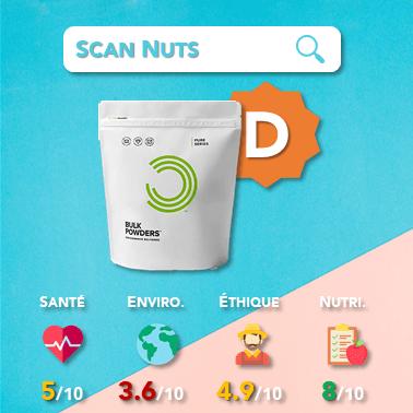 Bulk powders isolat whey 90 nature score scannuts
