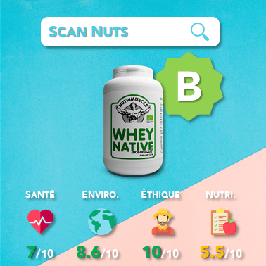 Nutrimuscle whey native biologique score scannuts