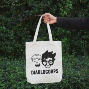 Totebag diablocorps vue main de face