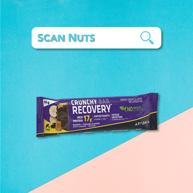 Aptonia crunchy protein bar recovery banane scannuts