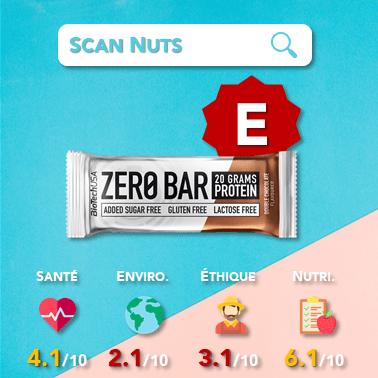 Biotech usa zero bar double chocolat score scannuts