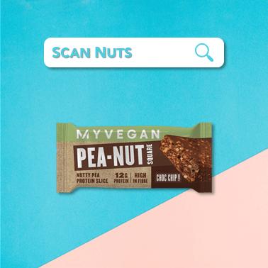 Myprotein myvegan peanut square choc chip scannuts