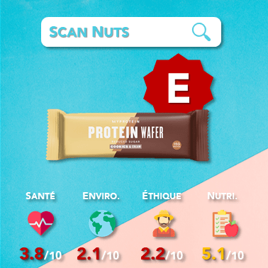 Myprotein protein wafer cookie cream score scannuts