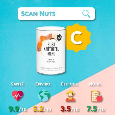 Nu3 farine patate douce score scannuts