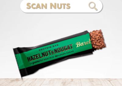 Barebells protein bar hazelnut nougat : test-avis-score scannuts