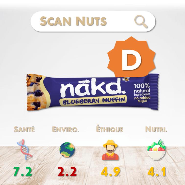 Nakd barre blueberry muffin score scannuts