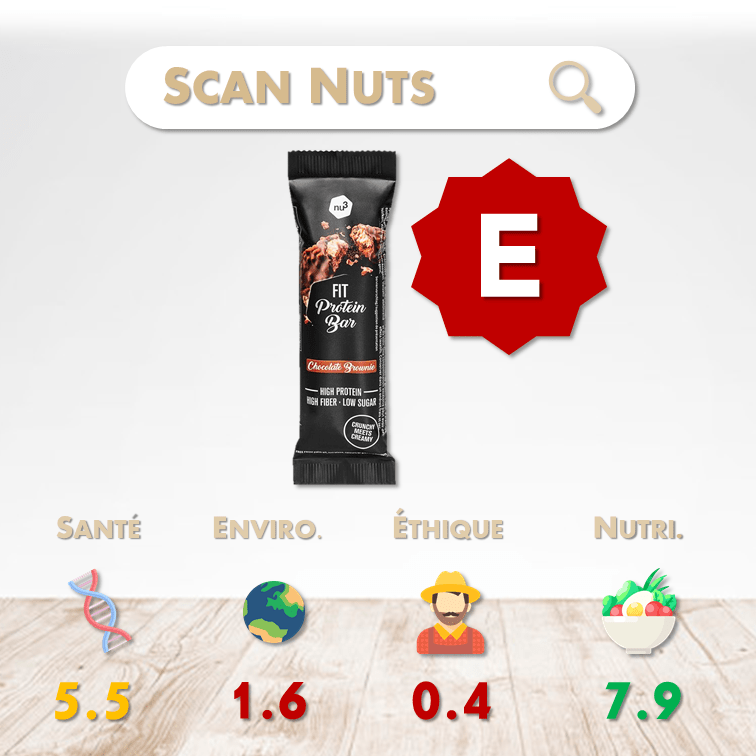 Nu3 fit protein bar chocolat score scannuts