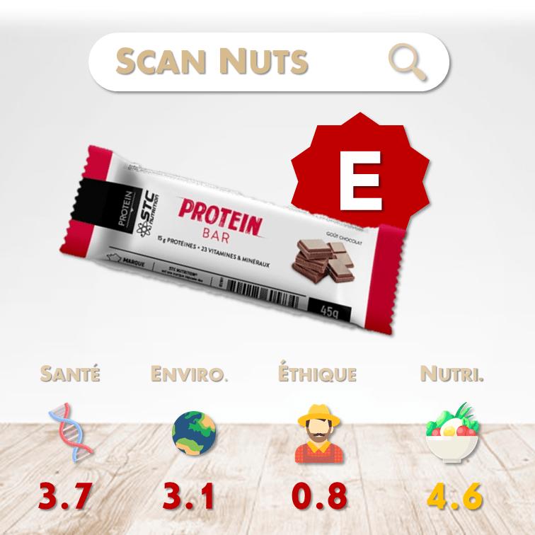 STC Nutrition protein bar chocolat score scannuts