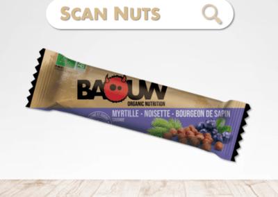 Baouw barre énergétique myrtille noisette sapin : test-avis-score scannuts