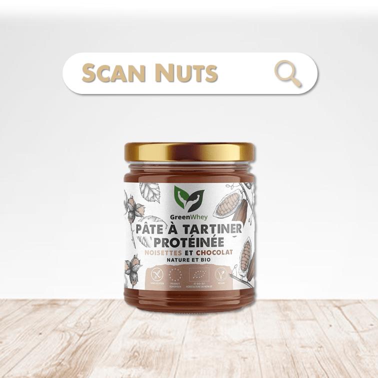 Greenwhey pâte à tartiner protéinée cacao noisette scannuts