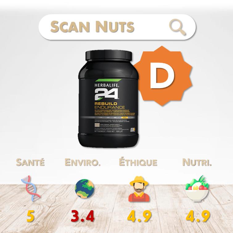 Herbalife 24 rebuild endurance score scannuts