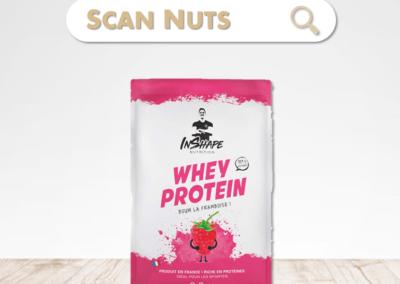 Inshape nutrition whey protein framboise : test-avis-score scannuts
