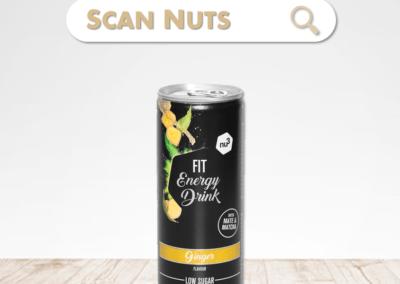 Nu3 fit energy drink ginger : test-avis-score scannuts