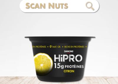 Danone Hipro citron : test-avis-score scannuts