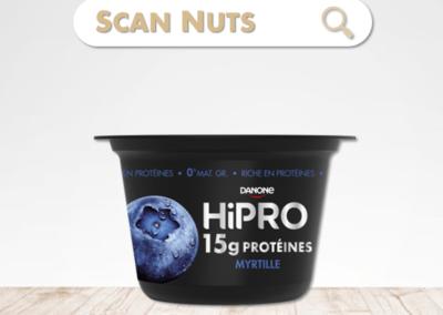Danone Hipro myrtille : test-avis-score scannuts