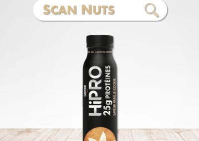 Danone Hipro vanille cookie : test-avis-score scannuts