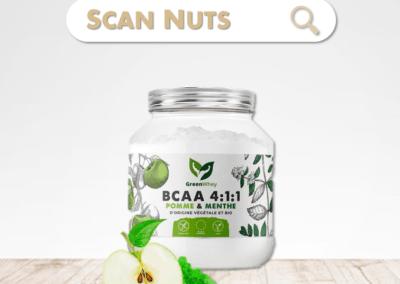Greenwhey bcaa 4.1.1 pomme menthe : test-avis-score scannuts