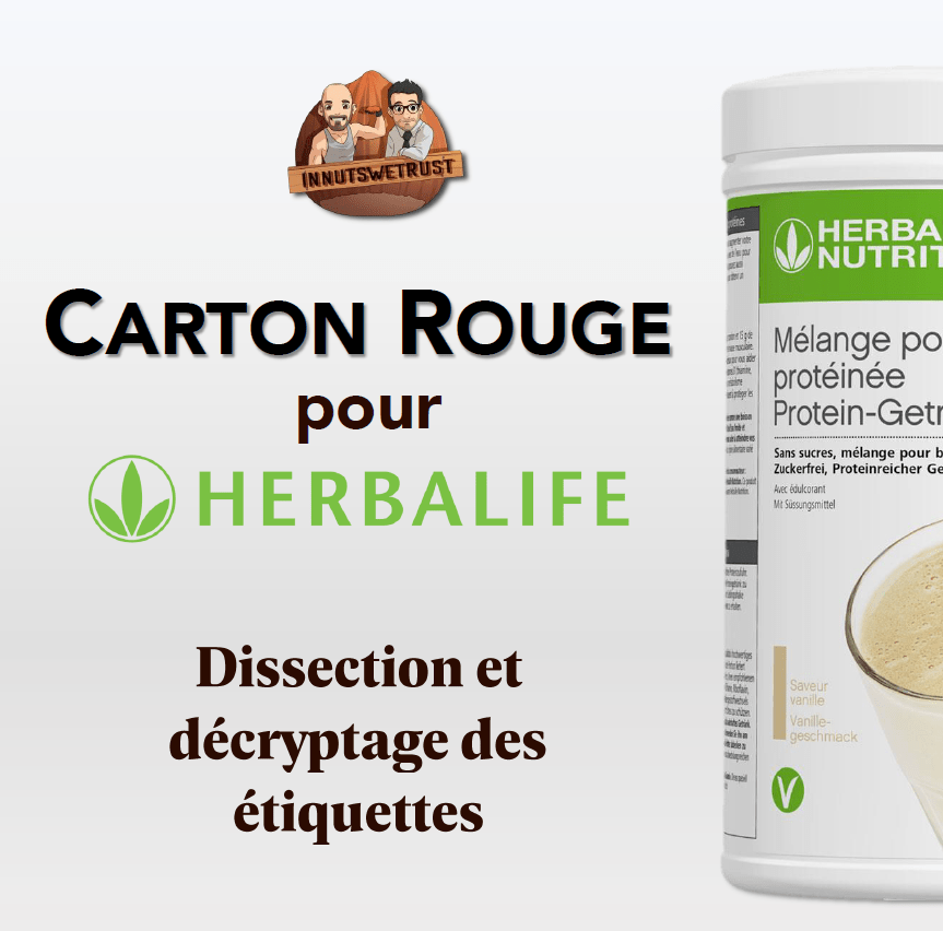 Carton rouge pour Herbalife : infographie