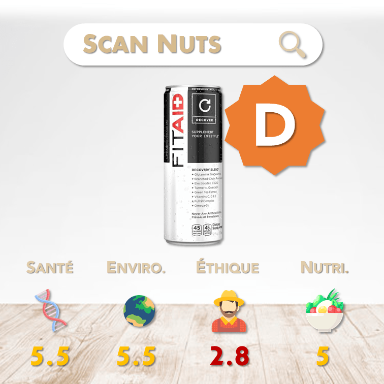 Lifeaid fitaid recovery score scannuts