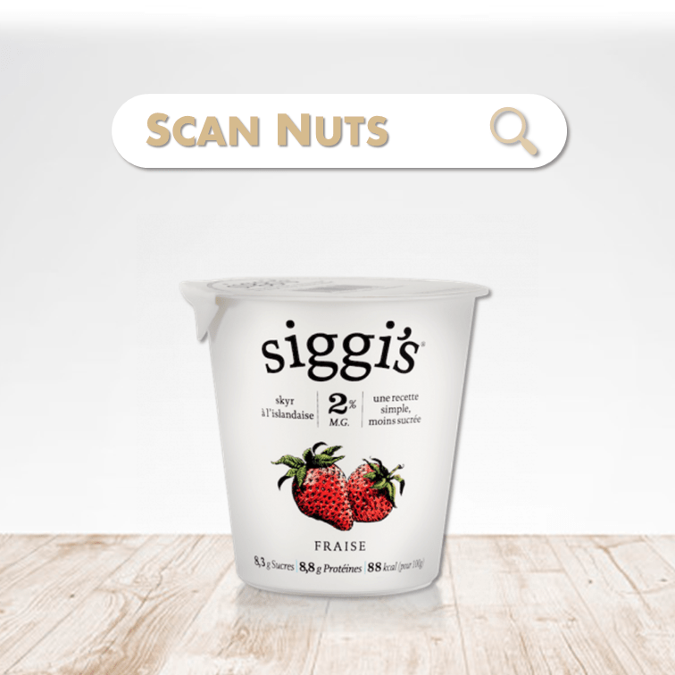 Siggi's skyr fraise scannuts