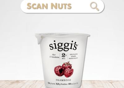 Siggi's skyr framboise : test-avis-score scannuts