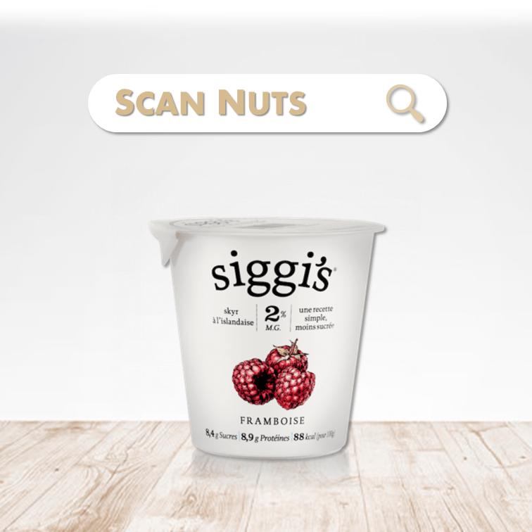 Siggi's skyr framboise scannuts