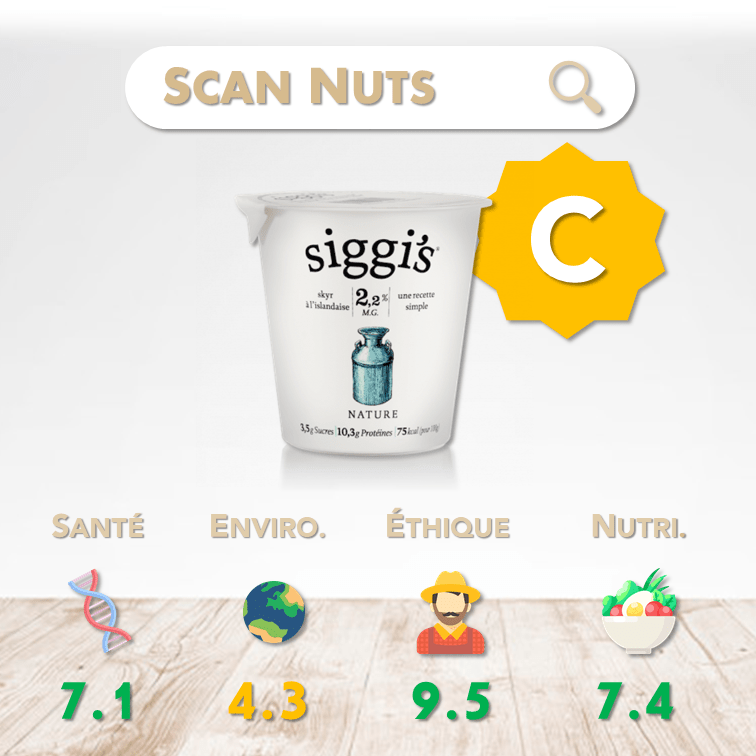 Siggi's skyr nature score scannuts