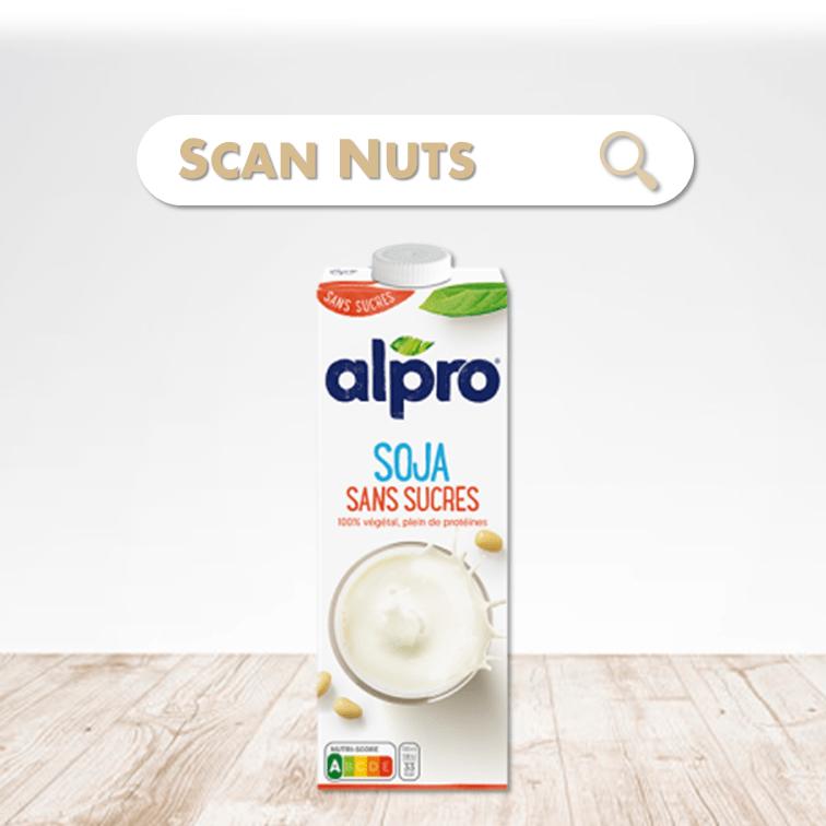 Alpro soja sans sucres boisson végétale scannuts