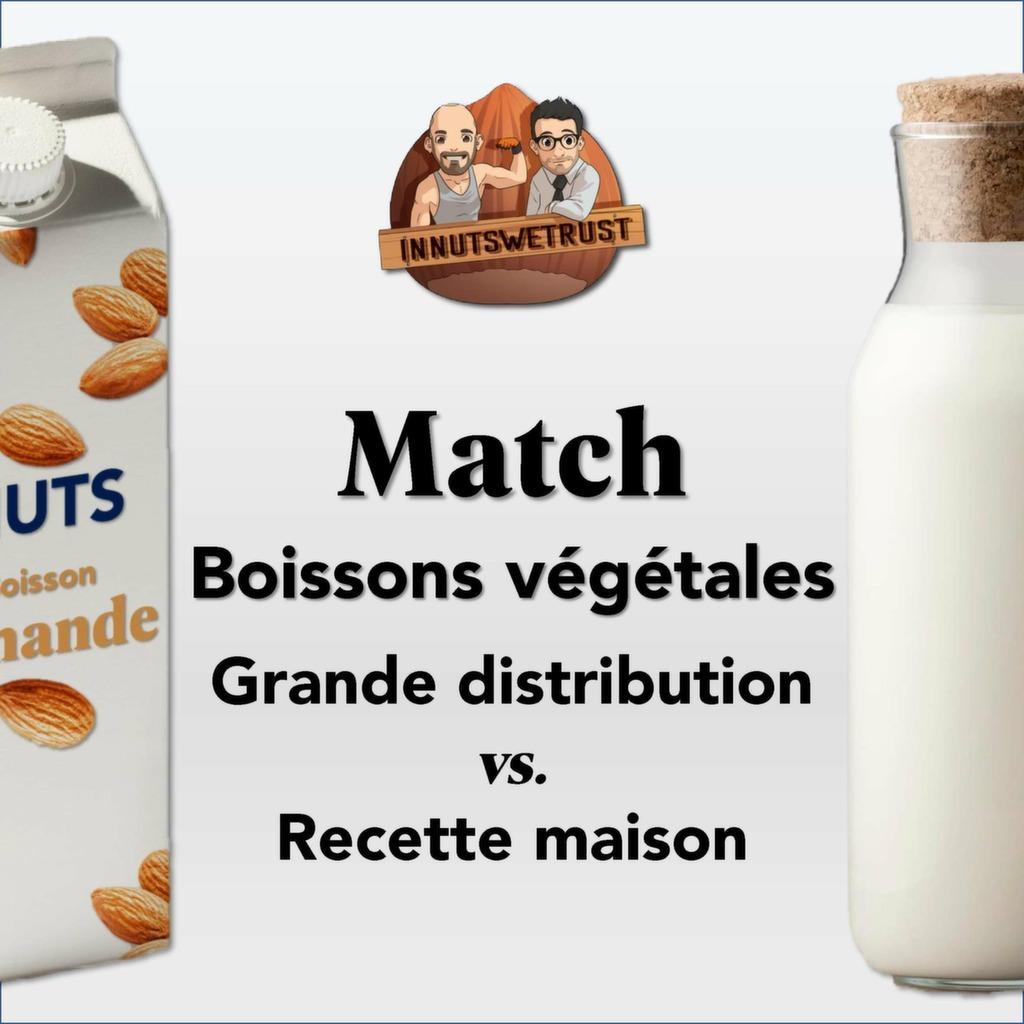 Boissons végétales infographie : grande distribution vs recette maison