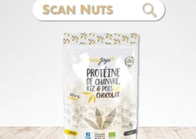 HelloJoya protéines chocolat chanvre riz pois bio