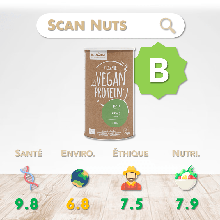 Purasana organic proteine pois score scannuts