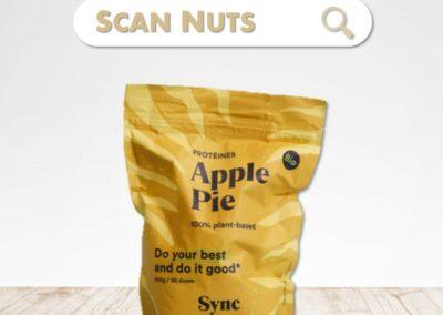 Sync Protein apple pie vegan : test-avis-score scannuts