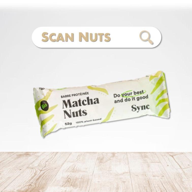 Sync Protein bar matcha nuts scannuts