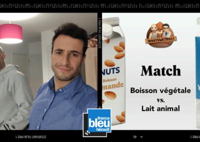 Lait animal boisson végétale France Bleu Hérault