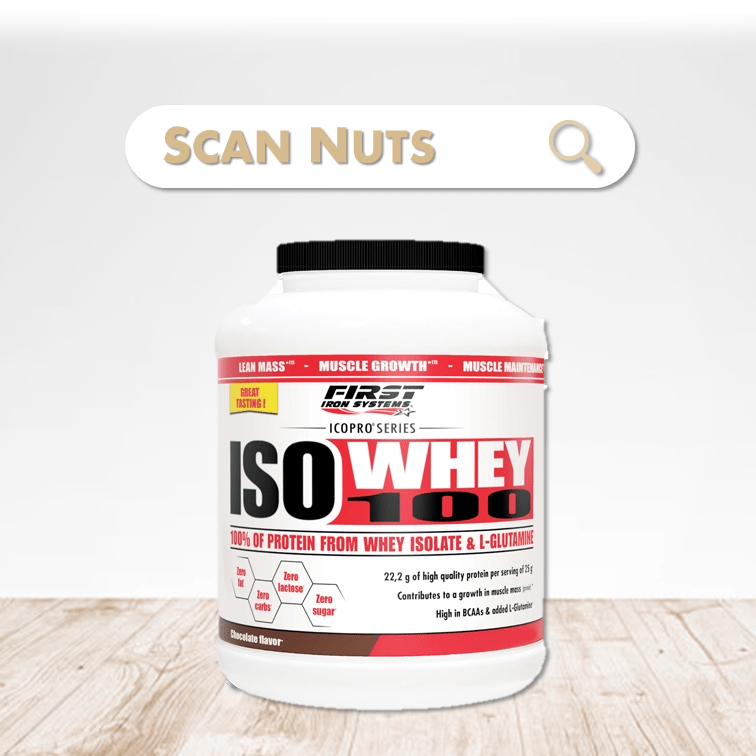First Iron System iso whey 100 chocolate scannuts