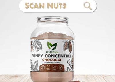 Greenwhey protéine chocolat concentrée native biologique