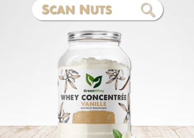 Greenwhey protéine vanille concentrée native biologique