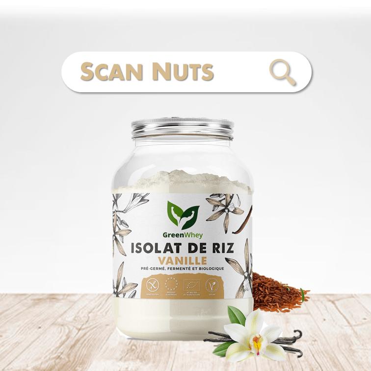 Greenwhey isolat riz vanille bio scannuts