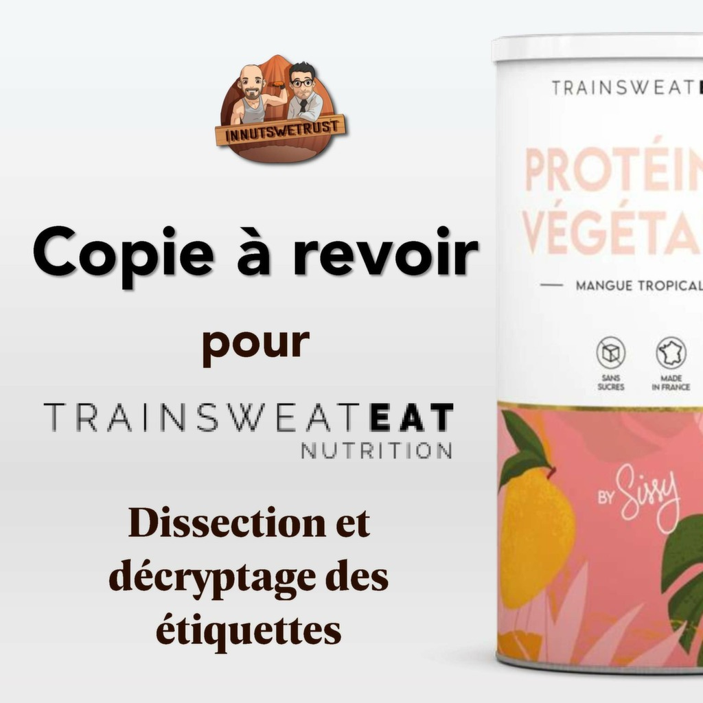 Infographie Sissy Mua Trainsweateat compléments alimentaires