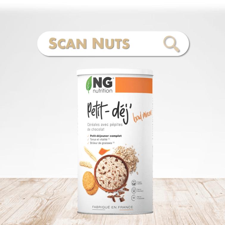 NG nutrition pépites chocolat petit déj scannuts